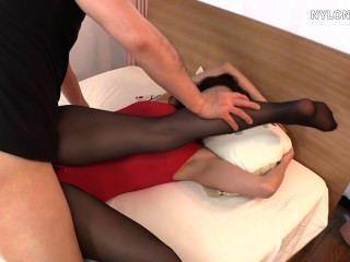 Stockings Sex In Leotard Nylon Pantyhose