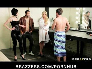 Sexy Teen Rockers Share A Big-dick In A Backstage Threesome