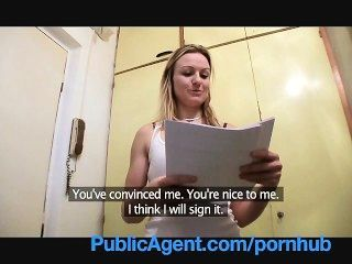 Publicagent Natasha Single White Female Blowjob