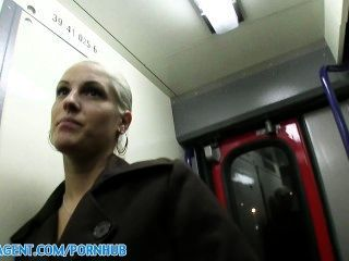Publicagent Hd Genuine Hardcore Sex On A Moving Train