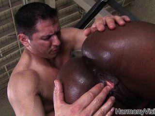 Hot Ebony Babe Jada Fire Enjoys John Strongs Big White Dick In Every Hole!
