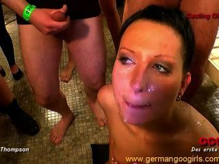 Hot German Babes Masturbating And Getting Drenched In Jizz