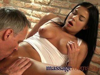 Massage Rooms Moist Camel Toe Pussies Sliding On Big Hard Oiled Cocks