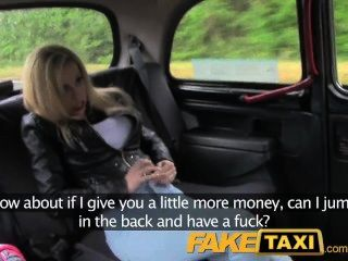 Taxi Driver Bribes Blonde For Fun On The Back Seat