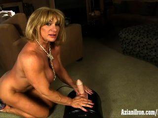 Big Muscles, Big Clit, And A Big Intense Orgasm