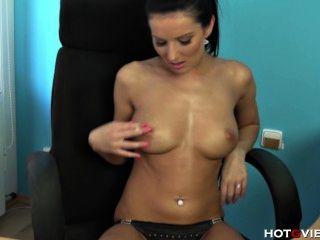 Busty Secretary Fucks Herself On Her Desk