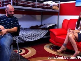 Hot Tutor! Busty Milf Julia Ann Makes Her Student Study Hard!