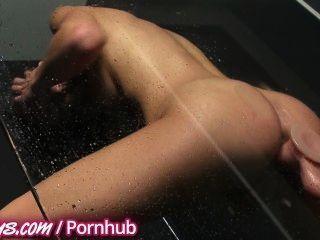 Hot Teen Fucks Toys In The Shower