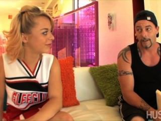 Sweet Blonde Cheerleader Gets Tight Little Teen Pussy Pounded Doggystyle!
