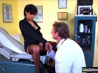 Meximilf Gabby Quinteros Sucks & Fucks Her Doctor!