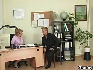 Mature Office Boss Forces Him Fuck Her Hard