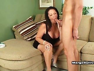 Cougar Margo Smoking Blowjob