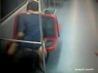 Couple Caught Having Sex On Underground
