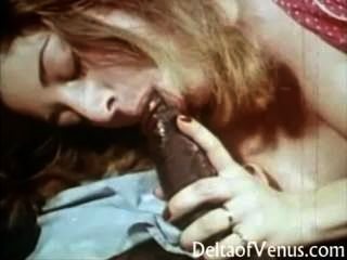 Vintage Interracial Porn - Hairy Pussy Teen Fucks Black Guy