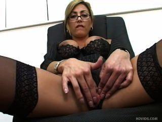 Naughty Milf In Black Stockings