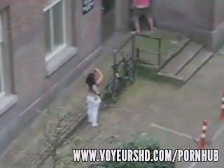 Voyeur Caught Sex Under His Balcony