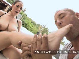 Big Tits Angela White Fucks A Huge Cock