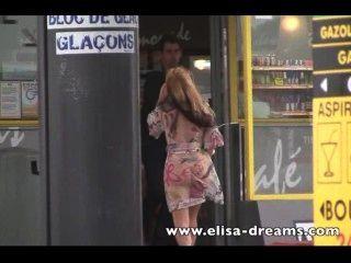 Nude In Public Under My Transparent Raincoat