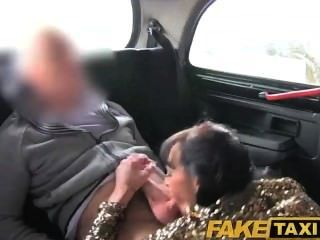Faketaxi Sexy Long Haired Brunette Escort Fucks Her Taxi Driver