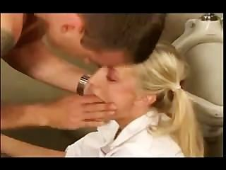 Cute Blonde Girl Gets Fucked On The Boys Toilet