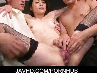 Innocent Looking Japanese Gal Hojo Maki Strip Off Her Office
