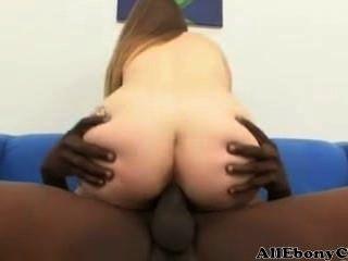 Busty Midget Mya Gets Fucked By A Big Black Cock
