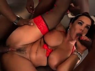 Hot Milf Interracial Gangbang