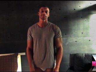 Muscle Black Man Strokes And Shoots