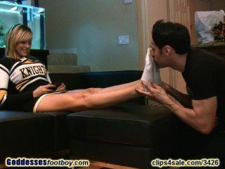 Cheerleader Shows Feet