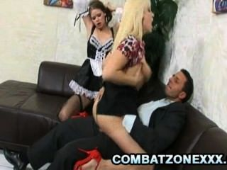 Jenny Noel And Lea Lexis - Gorgeous Babes Sharing Their Boss Cock