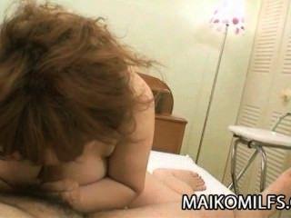 Kumiko Kaga: Chubby Japanese Granny Wants Young Cock