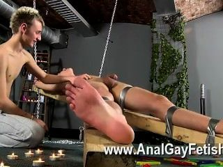 Gay Xxx Dean Gets Tickled, Steamy Wax Poured Over His Mushy Weenie And