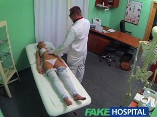 Fakehospital Nympho Brunette Teen Is Back In The Doctors Office