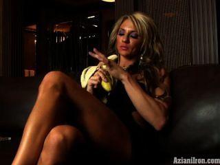 Hot Fitness Milf Sucks A Bananna Like A Dick