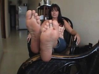 Sexy White Woman Soles In Your Face