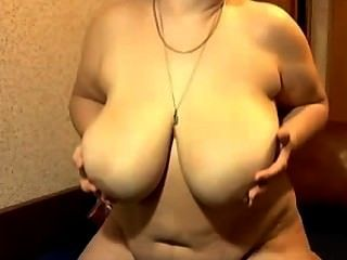 Granny With Huge Tits Masturbating