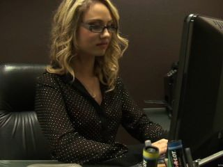 Sexy Blonde Secretary In Hot Stockings Fucked In Office