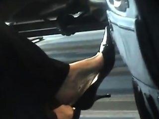 Candid Airport Dangling Feet Shoeplay