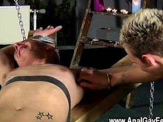 Hot Gay Dean Gets Tickled, Red-hot Wax Poured Over His Mild Dick And