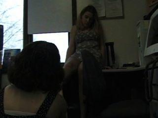 Office Lesbians Nylon Foot Worship