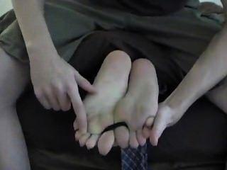 Face Down Toe-tied Tickling Feet
