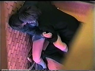 Public Sex Couple At Stairs