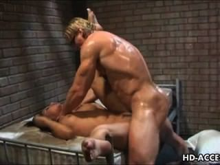 Prison Bitch Gets Hard Anal Drilling From The Screw