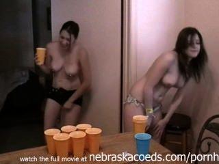 Strip Beer Pong Game Spring Break Home Video
