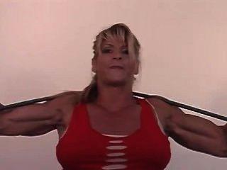 Nikki Fuller Shirt Ripping And Bar Bending