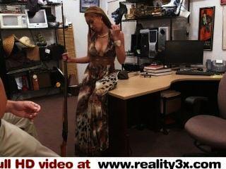 Real Spycam - Tattooed Big Tit Stripper Fucked At Pawn-shop - Reality3x.com