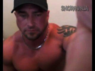 Straight Bodybuilder Verbal Vibrator Cum