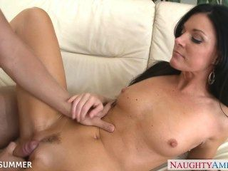 Brunette India Summer Gets Pussy Fucked