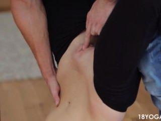 Bf Rips Teen Gf Yoga Pants To Fuck Her Hard