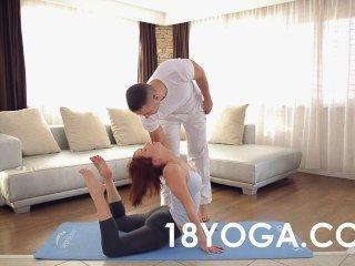 Yoga Teen Tina Hot Choked Anal Slapped